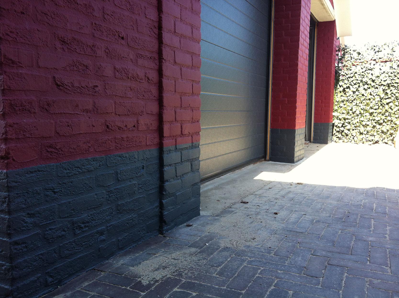 schilder-hermans-rood-zwart-garage-deur